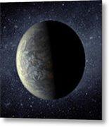 Deep Space Planet Kepler-20f Metal Print by Movie Poster Prints