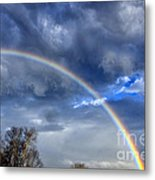 Double Rainbow Over Mountain Metal Print by Thomas R Fletcher