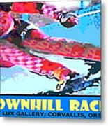 Downhill Racer Metal Print by Michael Moore
