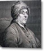Dr Benjamin Franklin Metal Print