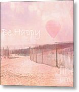 Dreamy Cottage Chic Summer Beach Typography Metal Print
