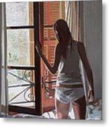Early Morning Villa Mallorca Metal Print by Gillian Furlong
