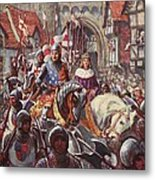 Edward V Rides Into London With Duke Metal Print