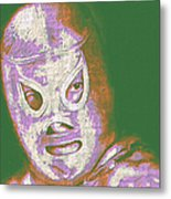 El Santo The Masked Wrestler 20130218v2m128 Metal Print by Wingsdomain Art and Photography