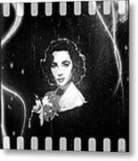 Elizabeth Taylor - Black And White Film Metal Print by Absinthe Art By Michelle LeAnn Scott