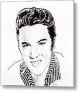 Elvis Metal Print by Martin Howard