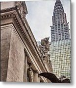 Empire State Building And Grand Central Station Dramatic Metal Print by For Ninety One Days