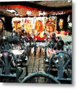 Empty Restaurant Metal Print