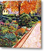 Evening Garden Stroll Metal Print by David Lloyd Glover