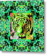 Eyes Of The Bengal Tiger Abstract Window 20130205m180 Metal Print