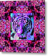 Eyes Of The Bengal Tiger Abstract Window 20130205p0 Metal Print by Wingsdomain Art and Photography