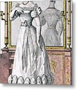 Fashion Plate Of A Lady In Evening Metal Print