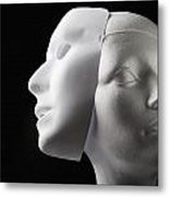 Female Mannequin And Mask Metal Print by Kelly Redinger