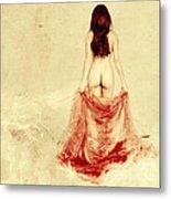 Female Nude Metal Print by Jelena Jovanovic