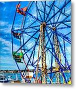 Ferris Wheel - Balboa Fun Zone Metal Print