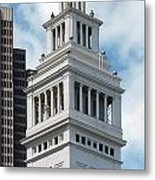 Ferry Building Clock Tower Metal Print