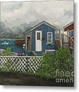 Fishing Shacks Alaska Metal Print by Reb Frost