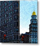 Flat Iron Nyc Metal Print