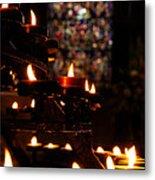 Flickering Prayers Metal Print
