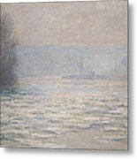 Floods On The Seine Near Bennecourt Metal Print by Claude Monet
