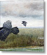 Flying To The Roost Metal Print