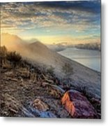 Foggy Morning Sunrise Metal Print by Steve Barge