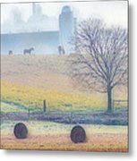 Foggy Morning Metal Print by Thomas  MacPherson Jr
