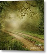 Foggy Road Photo Metal Print by Boon Mee