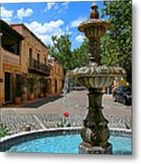 Fountain At Tlaquepaque Arts And Crafts Village Sedona Arizona Metal Print by Amy Cicconi