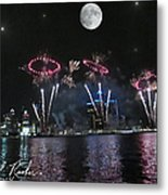 Fourth Of July Fireworks Metal Print by Michael Rucker