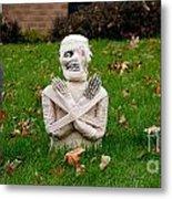 Front Yard Halloween Graveyard Metal Print