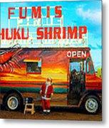 Fumis Kahuku Shrimp Metal Print by Ron Regalado