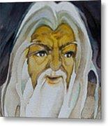 Gandalf Headstudy Metal Print by Patricia Howitt