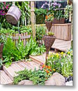 Garden Beautiful Metal Print by Boon Mee
