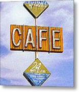 Gaston's Cafe Metal Print
