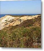 Gay Head Lighthouse With Aquinnah Beach Cliffs Metal Print
