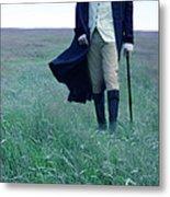 Gentleman Walking In The Country Metal Print by Jill Battaglia