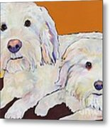 George And Henry Metal Print by Pat Saunders-White