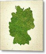 Germany Grass Map Metal Print