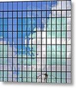Glass Facade Houston Tx Metal Print by Christine Till