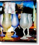 Glassware Metal Print by Bobbi Feasel