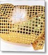Gold Sequin Purse Metal Print