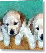 Golden Puppies Metal Print