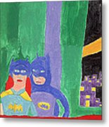Gotham Heroes  Metal Print by Don Larison