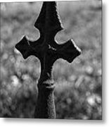 Gothic Cross Metal Print by Kelly Kitchens