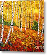 Graceful Birch Trees Metal Print