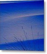 Grasses And Twilight Snow Drifts Metal Print by Irwin Barrett