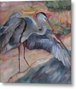 Great Blue Heron Metal Print by Susan Hanlon