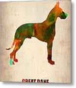 Great Dane Poster Metal Print by Naxart Studio
