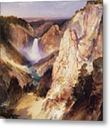 Great Falls Of Yellowstone Metal Print by Thomas Moran